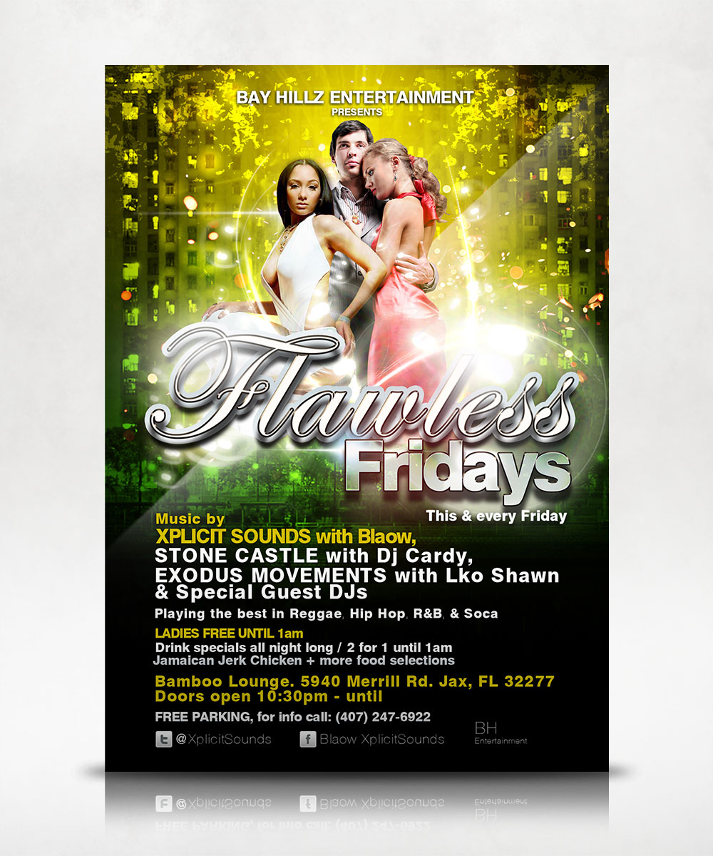 Flawless Fridays Flyer