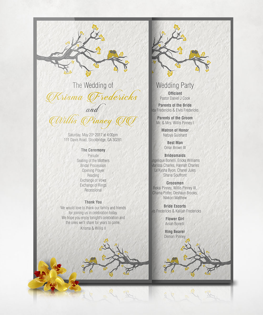 KW Wedding Programs