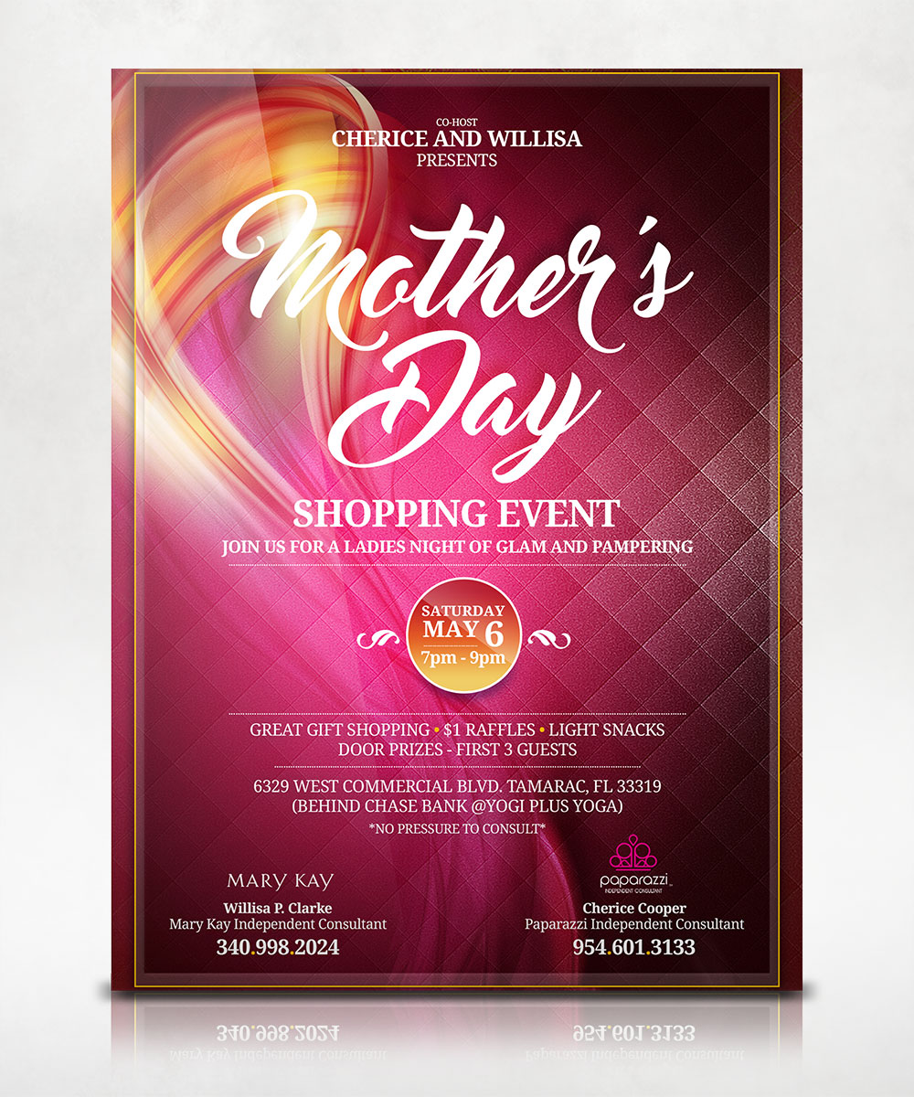 Mothers Day Shopping Event Flyer
