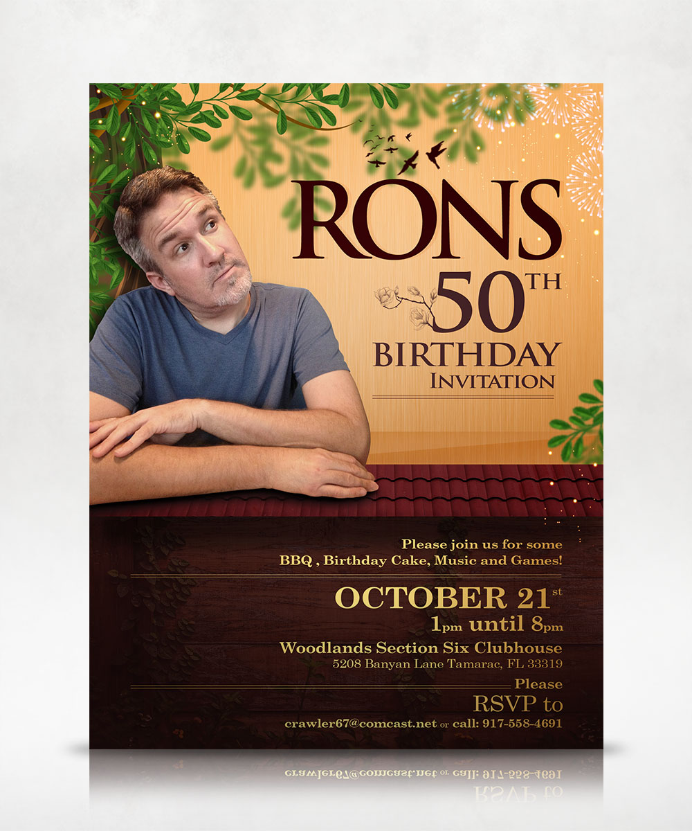 Ron's 50th Birthday Invitation