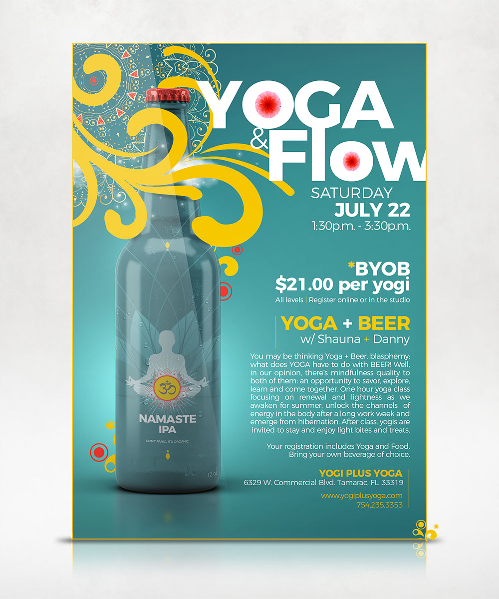 Sip Flow Yoga Flyer