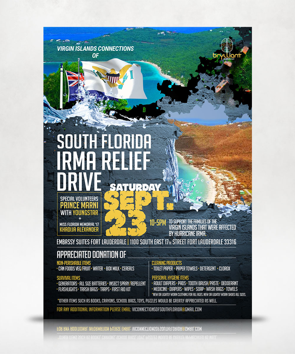 South Florida IRMA Relief Drive Flyer