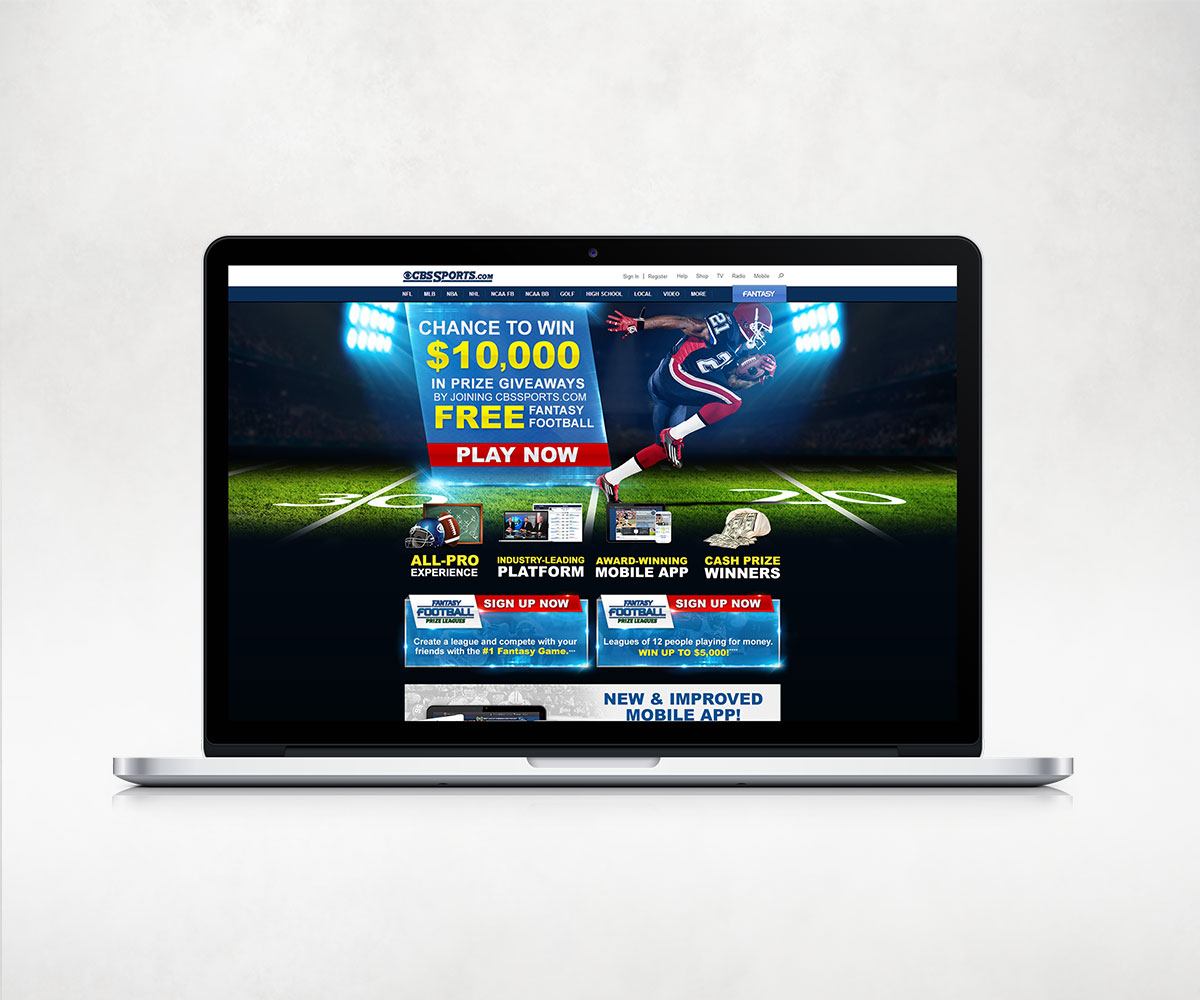 CBS Sports Fantasy Football Landing Page
